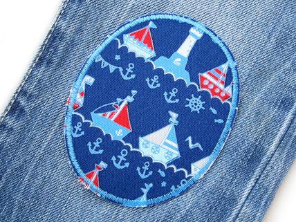 Set knieflicken hosenflicken flicken Schiff Piratenbande Kinder Jungen Patch zum aufbügeln