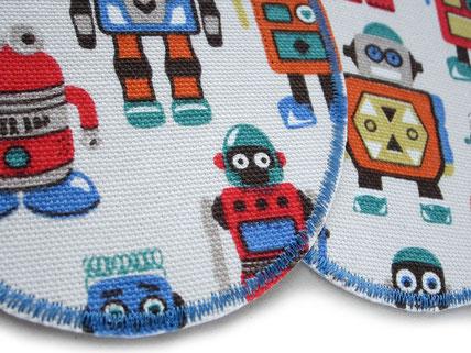 Bild: große Flicken zum aufbügeln für Kinder mit Robotern, Roboter Bügelbilder