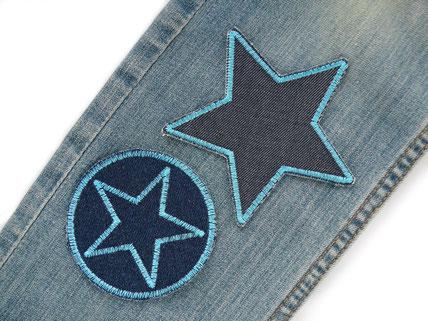 Bild: Jeansflicken zum aufbügeln in Neon, Set Bügelflicken zum Sparpreis