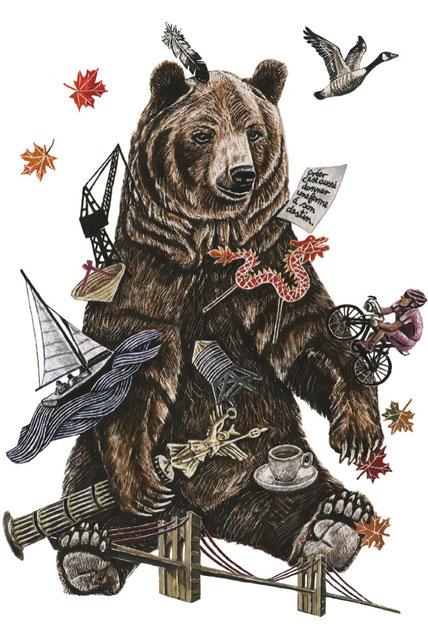 L'ours et le cycliste