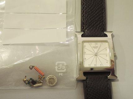 エルメス、クォーツ腕時計修理
