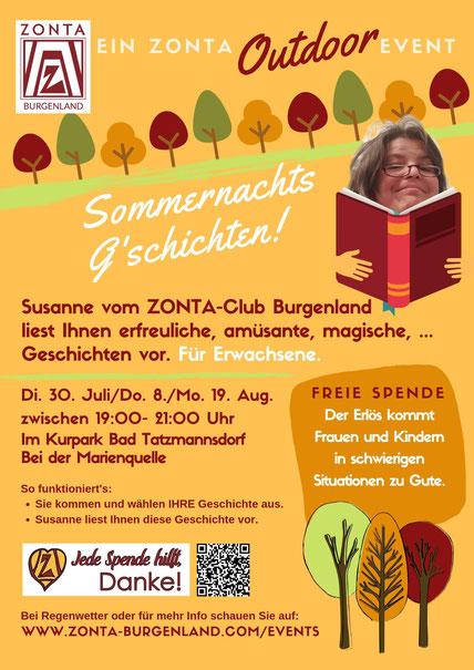 Zonta Outdoor Event: Vorlesen im Kurpark Bad Tatzmannsdorf