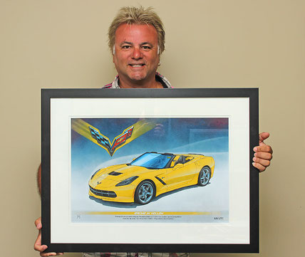 AN HAPPY CUSTOMER WITH THE FRAMED ART PRINT