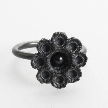 zeeuws ring gezwart zilver, zeeuwse sieraden