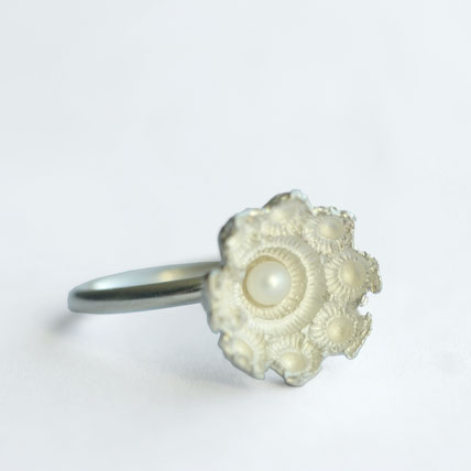 zeeuwse ring zilver met parel