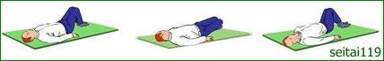 脊椎の可動性を維持するための腰痛体操