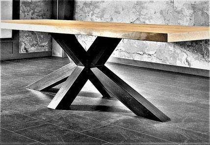 Fabrication de table acier bois sur mesure- Métal Bois Design