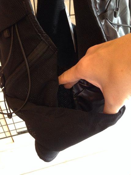 ザック側面メッシュポケット