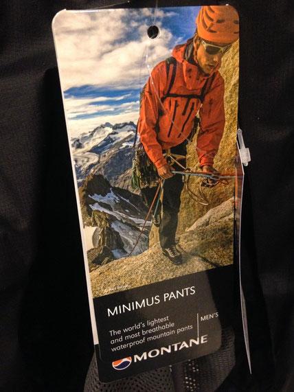 MONTANE(モンテイン)MINIMUS PANTS ¥19,440