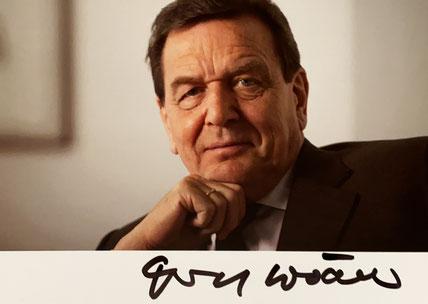 Autograph Gerhard Schröder Autogramm