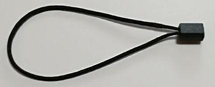 Marchamos Textiles 184mm color Negro - NUEVOS