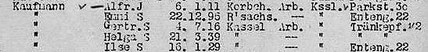 Deportationsliste 9.12.1941 Kassel