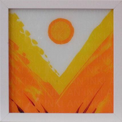 Hoffnung 3 (2011), Acryl hinter Glas 21,5x21,5cm
