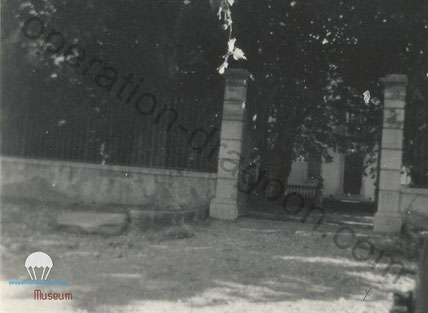 rare 1944 picture of German Head Quarter Les Serres front gate were Joe O'BRIEN was killed.