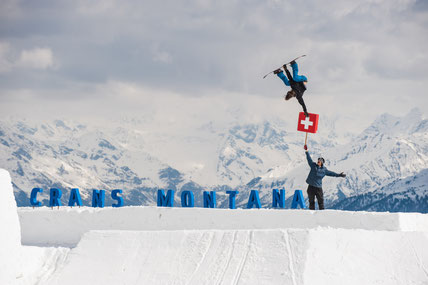 Snowboard in Crans Montana