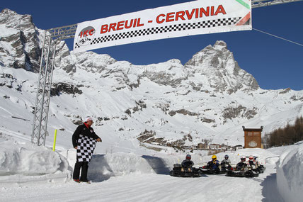 Ice Kart in Cervinia