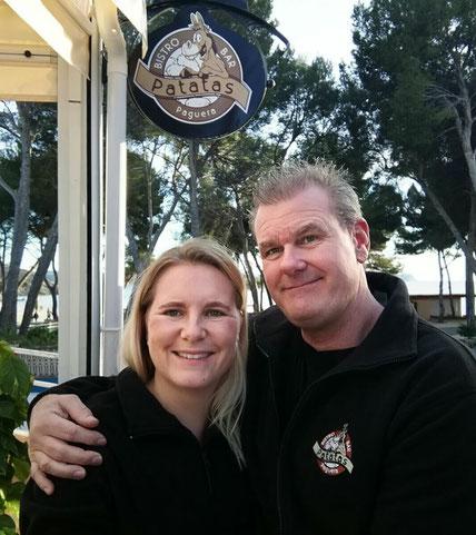 Katharina und Thorsten Schmidt aus Bünde im Kartoffelhaus  auf Mallorca in Paguera