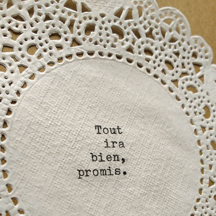 """Tout ira bien""  tablecloth, click on the picture to find out more!"