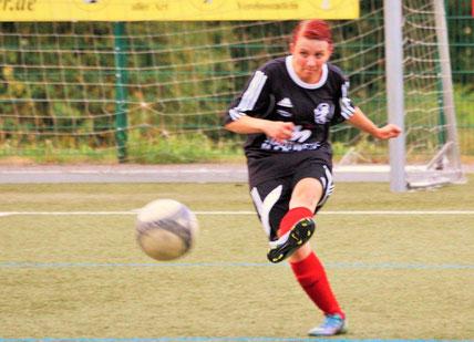 Gab ihren Einstand im Trikot der FSG Ebsdorfergrund: Ann-Kathrin Demus, Neuzugang vom FC Allertshausen