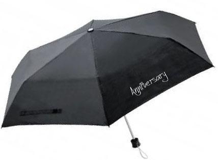 ベーシック折りたたみ傘ブラック名入れイメージ