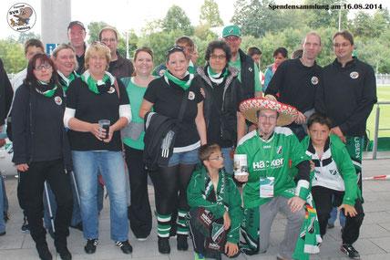 Spendensammlung beim Spiel SVR - Schalke II