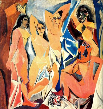 'Las señoritas de Avignon' - Pablo Picasso (Etapa protocubista).