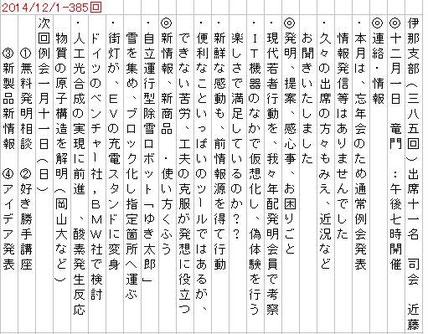 2014-12/1 伊那例会録