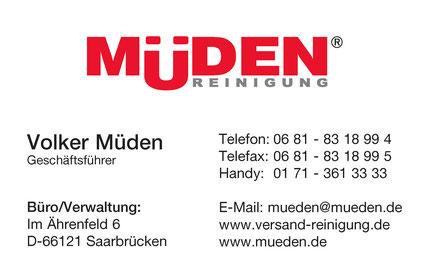 mueden.de, Volker Müden, Visitenkarte Volker Müden