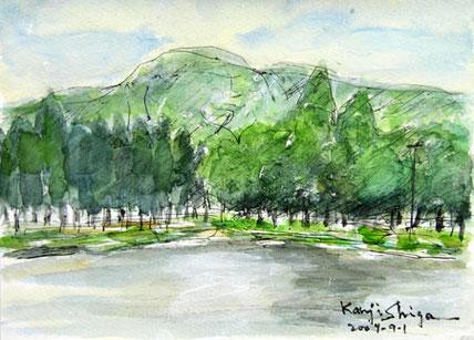 長野県・軽井沢の矢ヶ崎公園と池