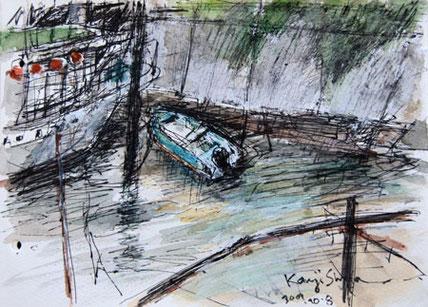 東京都・天王洲橋のボート
