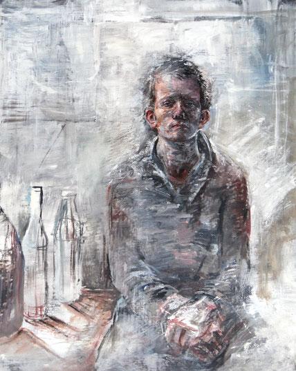 Selbst/ Öl auf Leinwand/ 80x100 cm/ 1985