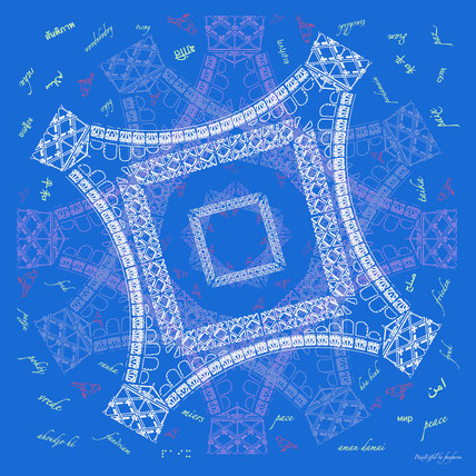 fanfaron foulard en soie, carré en soie, twill de soie, foulard made in france, tour Eiffel, trocadéro, Paris