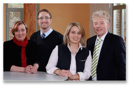 Das Rotermund-Team: (v.l.) G. Gerdes, M. Hülsmann, G.A. Rotermund u. U. Rotermund