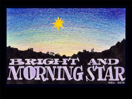 Jésus est la Lumière du monde, l'étoile brillante du matin, le flambeau de Dieu. La grande étoile qui brûlait comme un flambeau est Jésus-Christ, la plus grande de toutes les étoiles, la plus brillante, le flambeau de Dieu. Elle s'appelle aussi Absinthe.