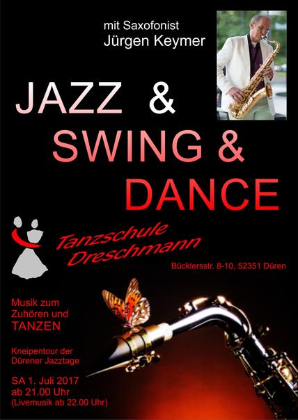 Saxophonist zum Tanzen