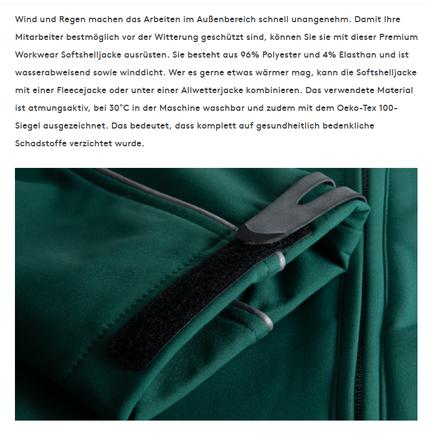 Produkttext für Arbeitskleidung