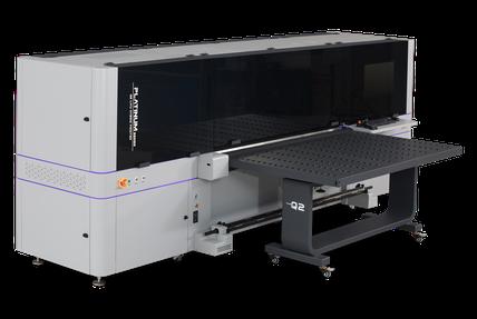 Macchina per la stampa industriale ibrida UV-LED flatbed - roll to roll Liyu Italia