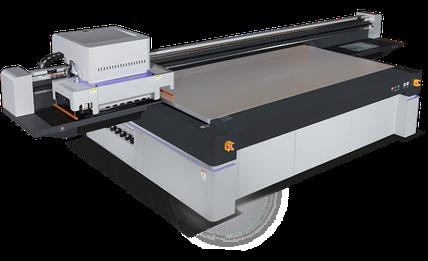Macchina per la stampa industriale flatbed UV-LED Konica Minolta Liyu Italia