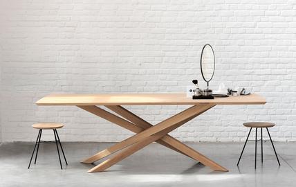 Ethnicraft Esszimmermöbel Tisch Stuhl Stühle Esszimmer Massivholztisch Holztisch Holzstühle