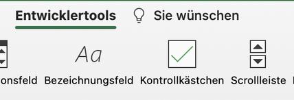 Excel Scrollbar einfügen