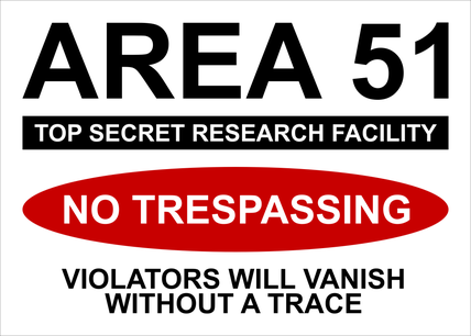 Cartello Area 51