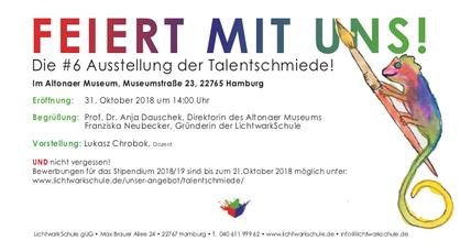 Einladung zur Ausstellung der Talentschmiede#6 im Altonaer Museum