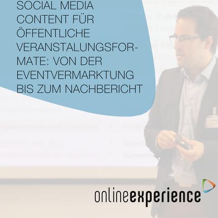 Social Media Content für öffentliche Veranstaltungsformate