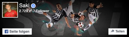 Saki Facebook Fussball Freestyler