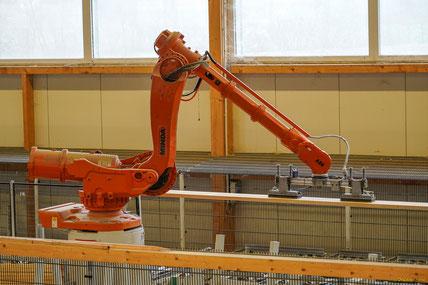 Ein Roboter sortiert Lamellen nach Eigenschaft und Qualität