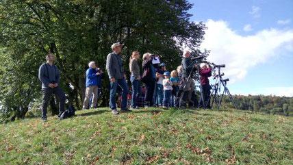 Euro-Birdwatch auf dem Galgenbuck (Foto: H. Roost)