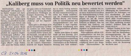 Quelle: Cellesche Zeitung, 21.04.2016