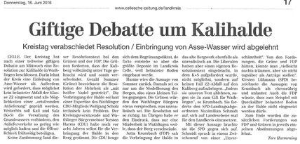 Quelle: Cellesche Zeitung, 16.06.2016