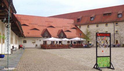 Das Schlosscafé mit Sommerterrasse
