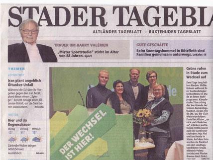 Florian Bremer-Gast und Ursula Männich-Polenz auf der LDK am 13./14.10.12 in Stade (vergrößerbar durch anklicken)